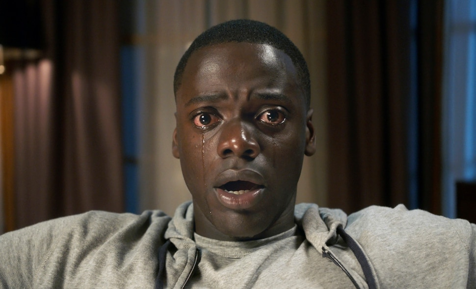 This image released by Universal Pictures shows Daniel Kaluuya in a scene from the film, Get Out. (Universal Pictures via AP)