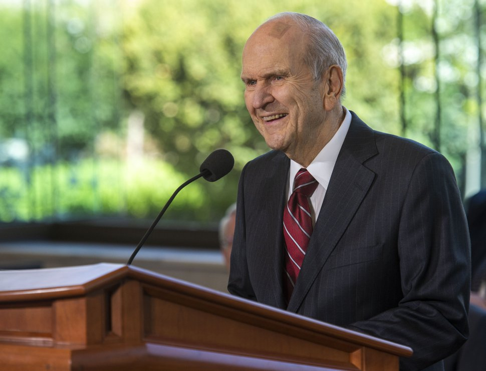 (Rick Egan | The Salt Lake Tribune) Church President Russell M. Nelson speaks at a news conference Friday, April 19, 2019.
