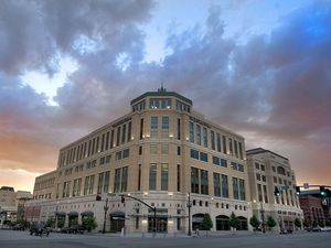 (Paul Fraughton  |  Tribune file photo) The Salt Lake Tribune office building at The Gateway.