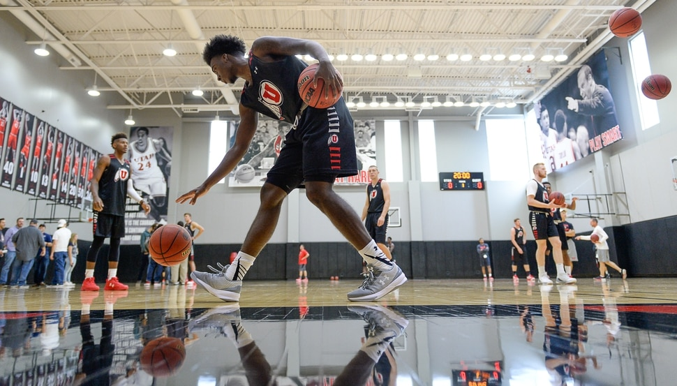 (Francisco Kjolseth | The Salt Lake Tribune) The Utah men's basketball program begins fall practices with a fairly new roster of players on Friday, Sept. 29, 2017.