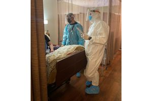(Photo courtesy of Utah Department of Health) Health care workers started administering monoclonal antibody treatments Saturday, Jan. 16, 2021, at Utah's long-term care facilities with COVID-19 outbreaks.