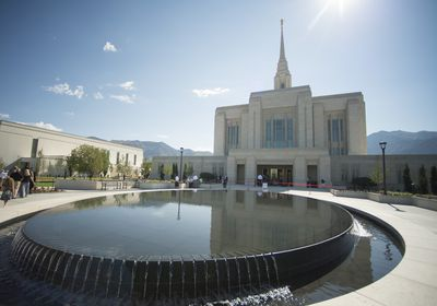 (Rick Egan  |  The Salt Lake Tribune) The Ogden Temple, shown in 2014. The First Presidency of The Church of Jesus Christ of Latter-day Saints is asking patrons and workers to wear masks in temples at all times and every temple.