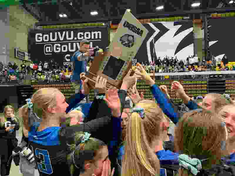 Pleasant Grove defeats Copper Hills 3-1 for 6A state volleyball crown