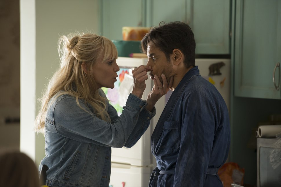 This image released by Metro Goldwyn Mayer Pictures/Pantelion Films shows Anna Faris, left, and Eugenio Derbez in a scene from
