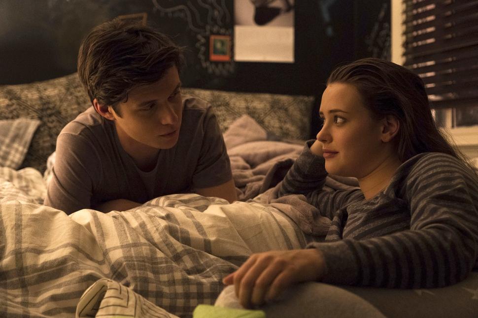 This image released by Twentieth Century Fox shows Nick Robinson, left, and Katherine Langford in Love, Simon. (Ben Rothstein/Twentieth Century Fox via AP)