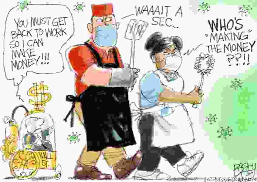 Bagley Cartoon: Non-essential Billionaires