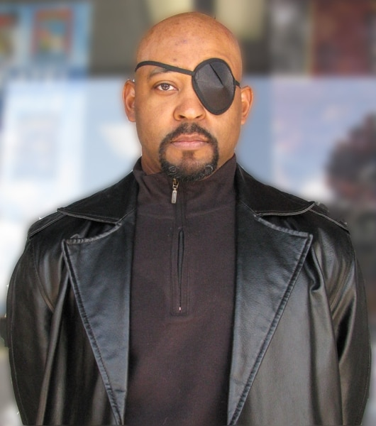(photo courtesy Robert Neal) Robert Neal, a systems engineer at a chemical company in West Valley City, in his Nick Fury cosplay.