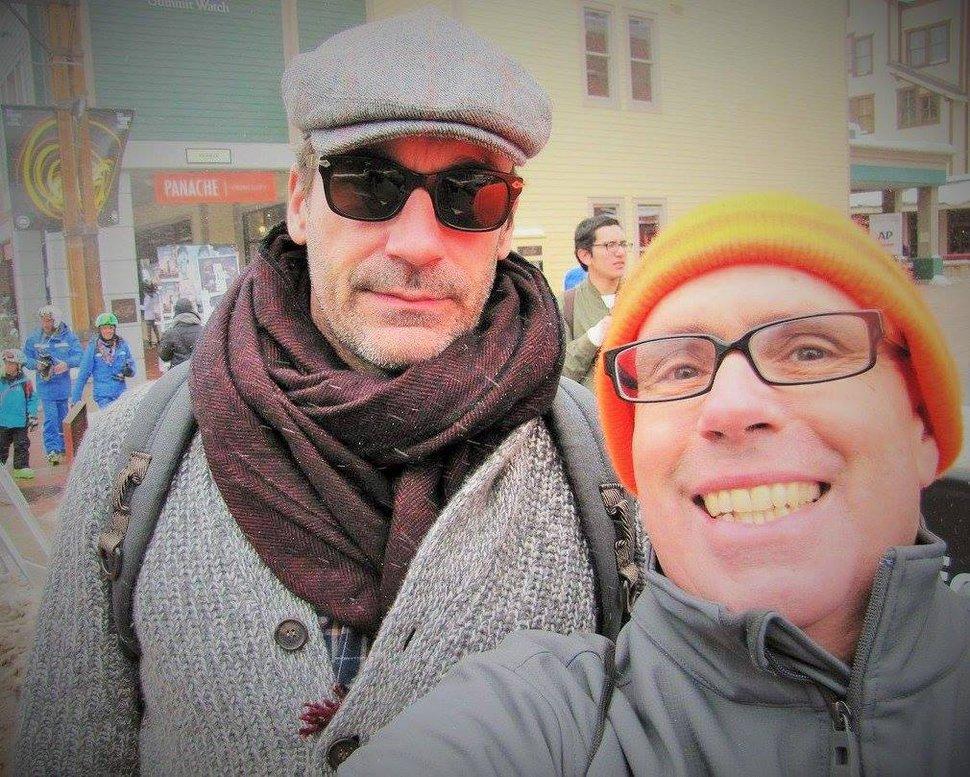 (Courtesy Stuart Graves) Stuart Graves with Jon Hamm.