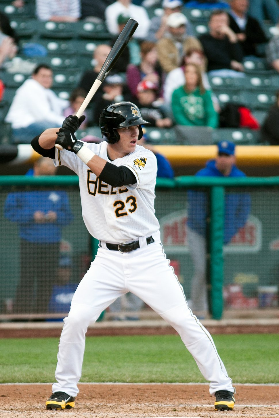(Photo courtesy of the Salt Lake Bees) Mike Trout gave Salt Lake City fans a glimpse of his talent in 2013, playing the first 20 games of the season for the Bees.