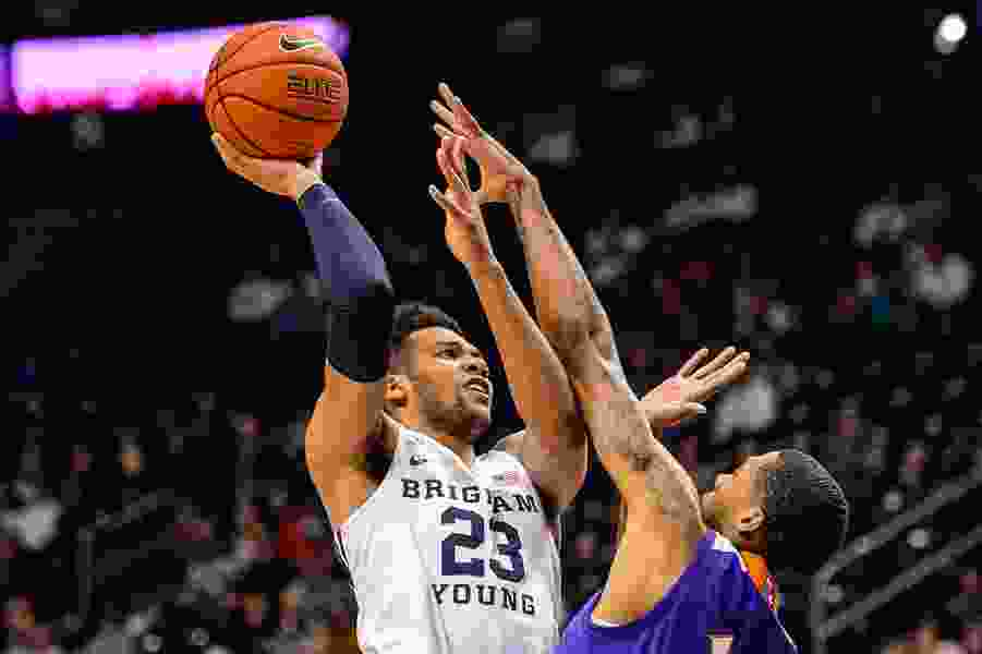 BYU heats up after cold-shooting start and rolls past Northwestern State, 82-57