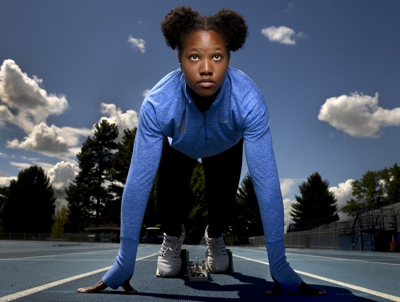 The tiny town of Enterprise, Utah, isn't known for producing world-class sprinters, but it has one in BYU freshman Jaslyn Gardner