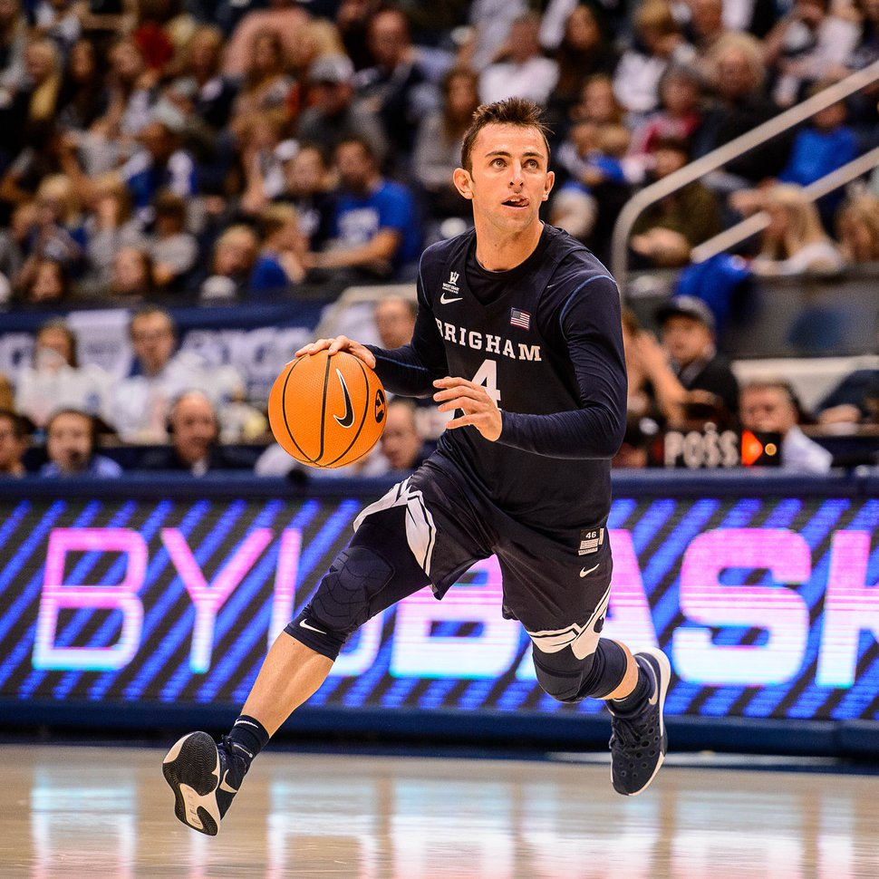 (Trent Nelson | The Salt Lake Tribune) BYU guard Nick Emery will rejoin the Cougars in 2018-19, but must sit out the first nine games due to NCAA sanctions.