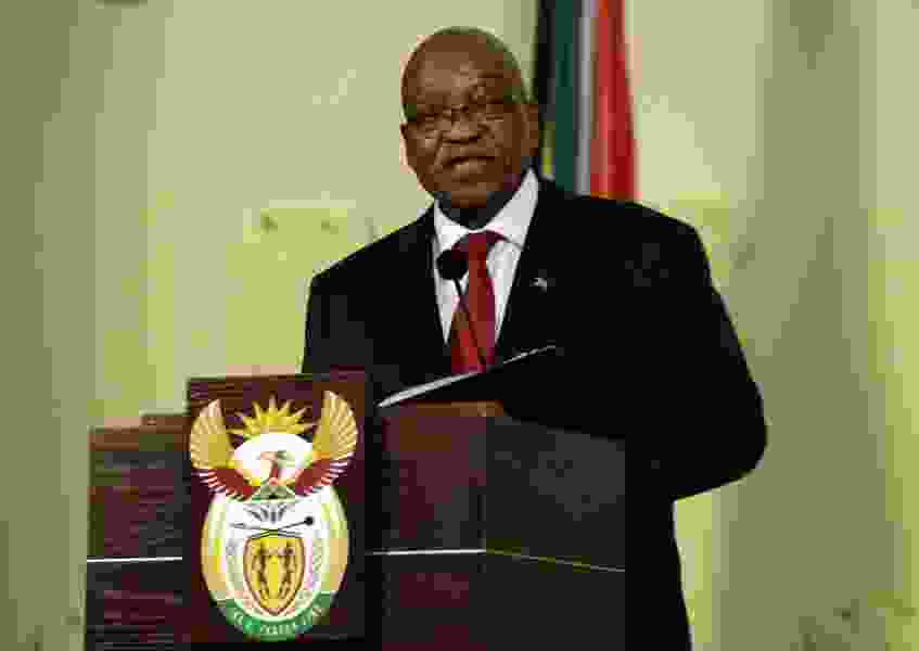 South African President Zuma resigns in televised address