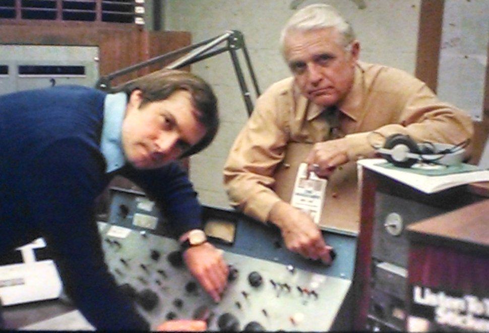 | Courtesy Lynn Lehman with KCPX general manager Hack Wooley in the station's heyday in the 1970s.