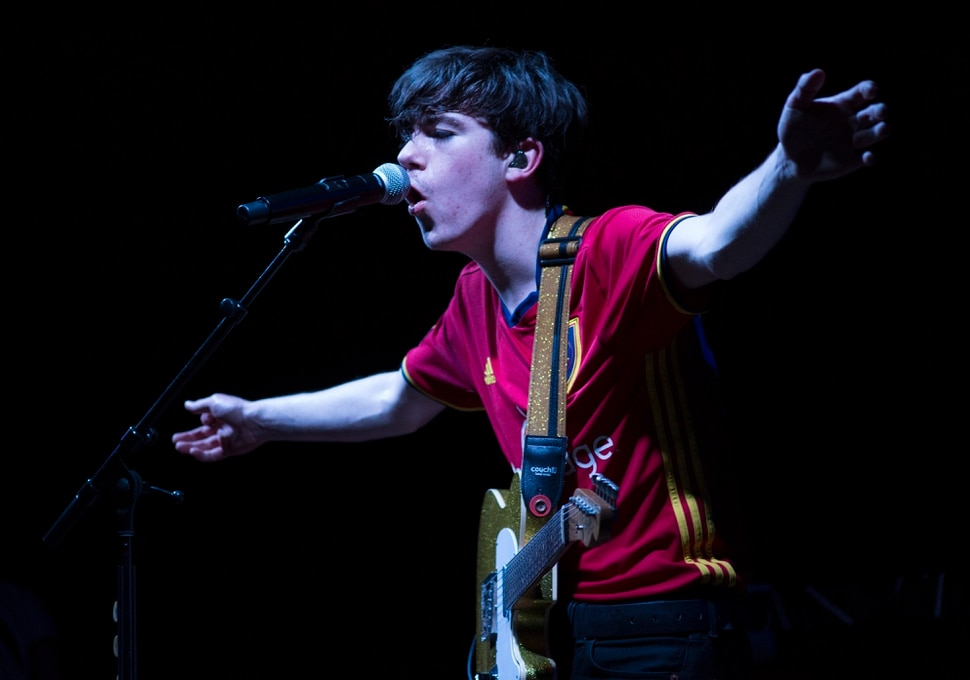 (Rick Egan | The Salt Lake Tribune) Declan McKenna plays in the Venue, in Salt Lake City, Tuesday, March 20, 2018.