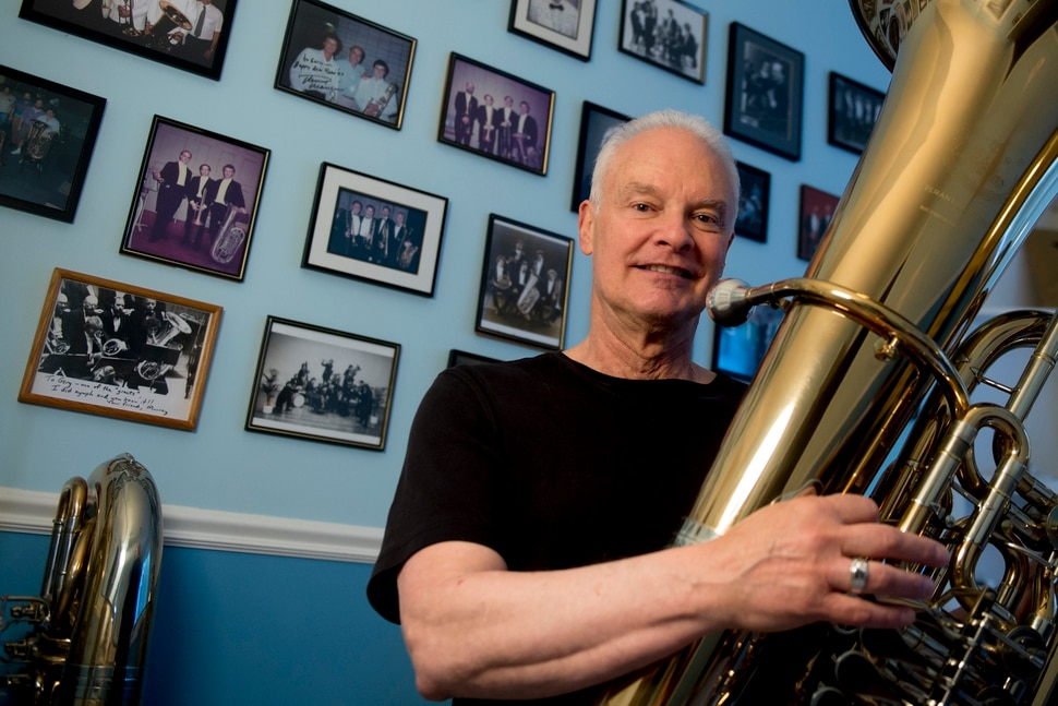 (Jeremy Harmon   The Salt Lake Tribune) Gary Ofenloch is retiring after 36 years as the principal tuba player for the Utah Symphony. He is the longest tenured brass player in the symphony's history.