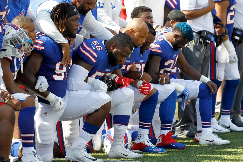 Image result for nfl players kneel at national anthem september 2017