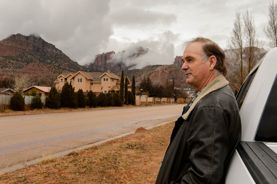Trent Nelson | The Salt Lake Tribune Lorin Cooke near a United Effort Trust (UEP) home he hoping to move his family into in Hildale, Saturday February 11, 2017.