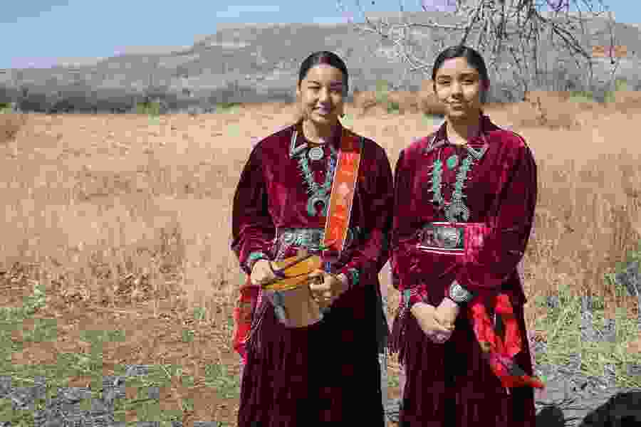 The Martin Sisters, a teenage duo who performs traditional Navajo music, on releasing their first album