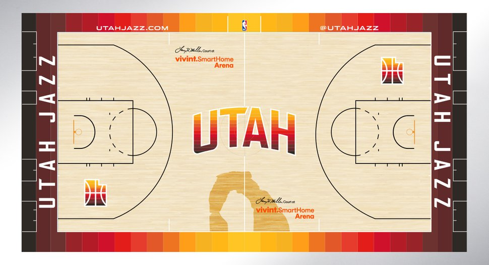best loved ca750 5c339 In their new redrock-inspired uniforms, the Utah Jazz are ...