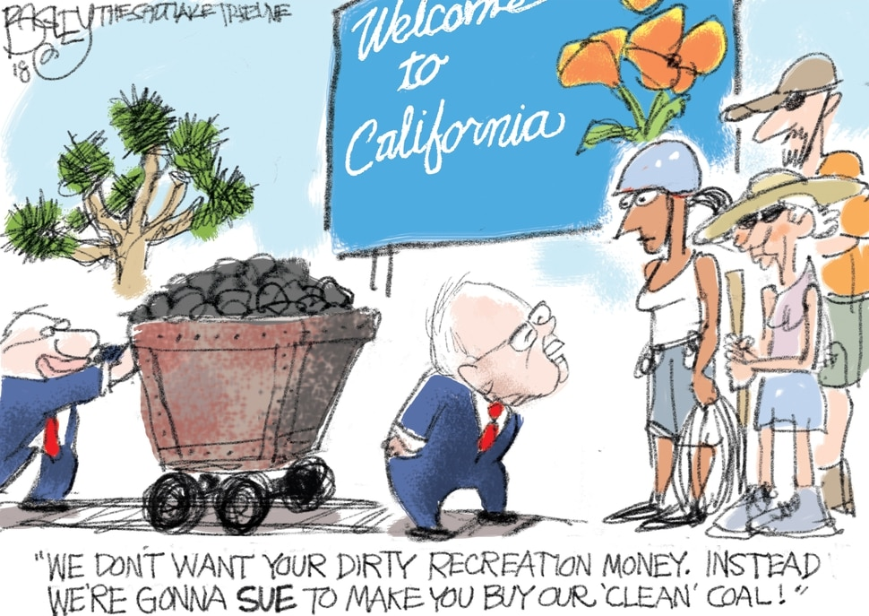 "This Pat Bagley cartoon, titled ""Utah Priorities"" appears in The Salt Lake Tribune on Sunday, Feb. 18, 2018."