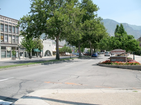 (Tribune File Photo) The 500 West-Center Street intersection is one of the downtown Provo features the city is looking at improving in its Downtown Strategic Plan.