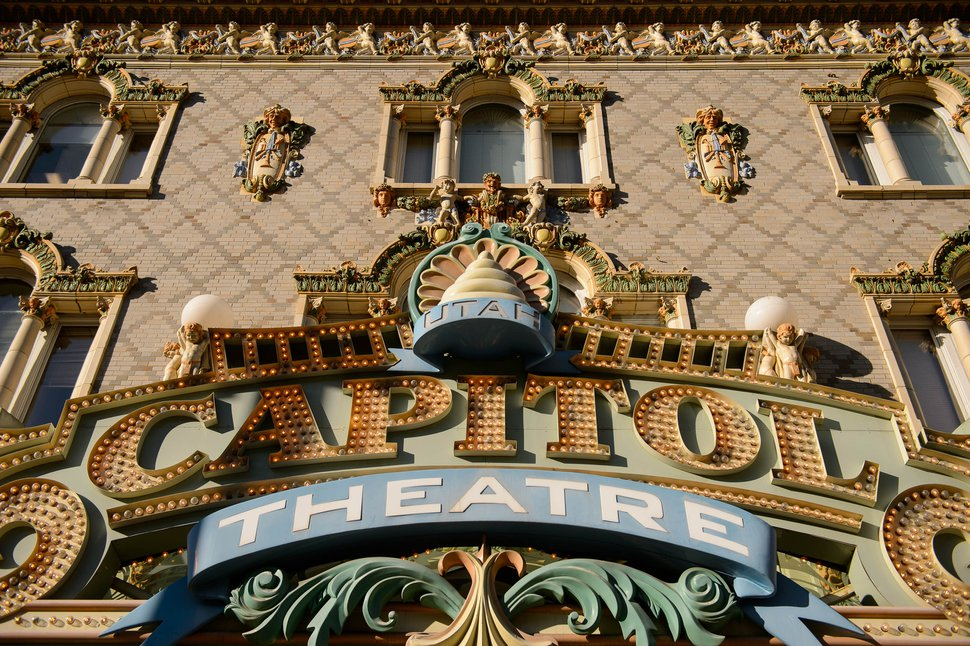 (Trent Nelson | Tribune file photo) The facade of the Capitol Theatre in Salt Lake City. Utah Opera will start its 2020-21 season at the Capitol on Friday, Oct. 9, 2020.