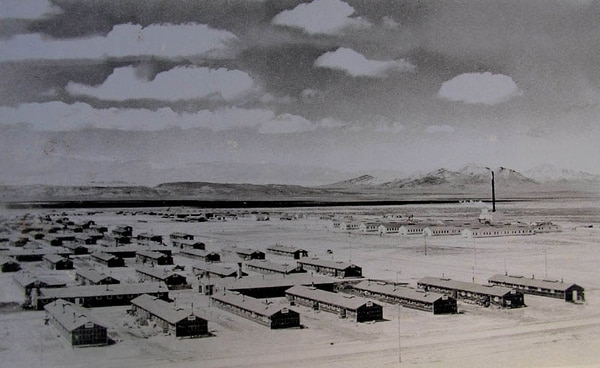 (Photo courtesy of The National Archives) Japanese internment camp of Topaz from World War II.