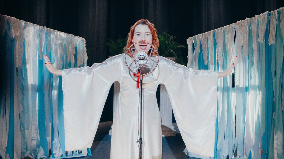 (Carlos Valdes Lora | Courtesy of Sundance Institute) Anna Margaret Hollyman plays famed evangelist Aimee Semple McPherson in