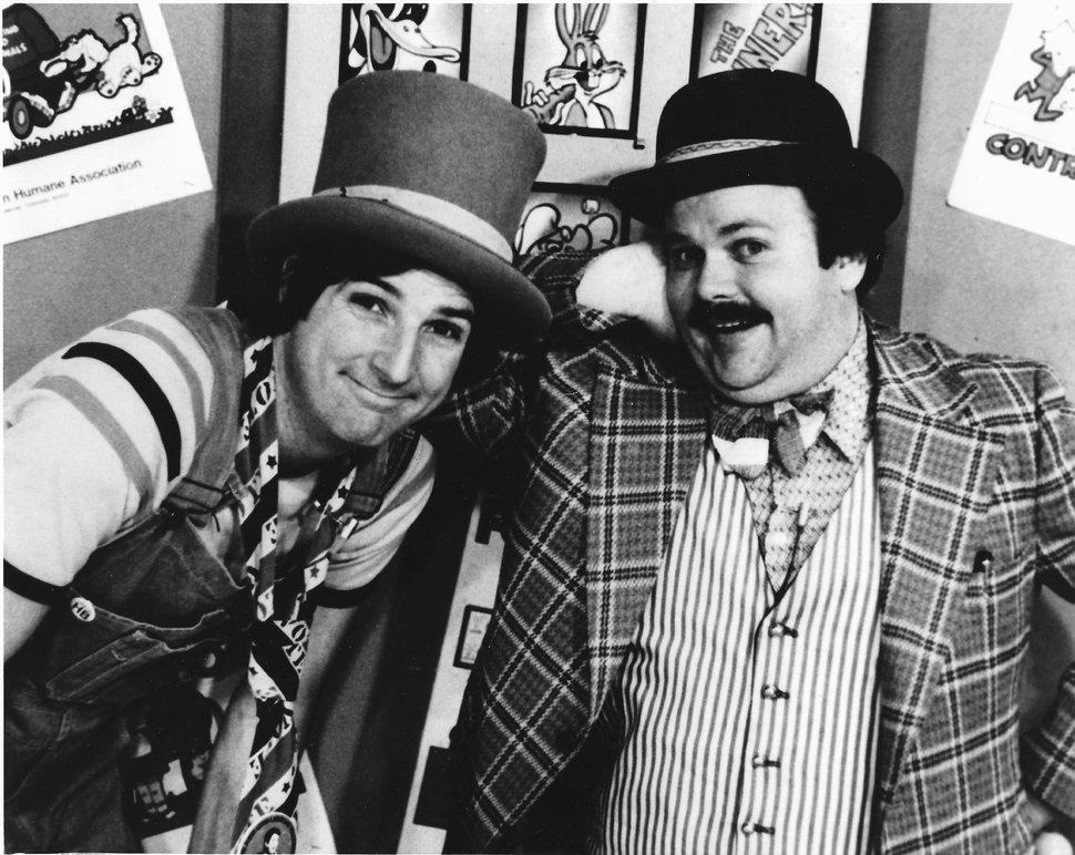 (photo courtesy Randy Lovoi) Larry John (right) as Cannonball and Randy Lovoi as Harvey, the stars of KTVX's long-running children's show