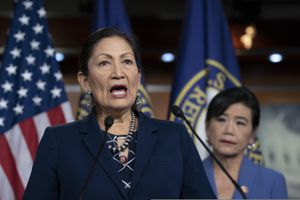 (AP file photo/J. Scott Applewhite) Interior Secretary Deb Haaland arrives will be in Utah this week as part of her assignment to evaluate whether the Biden administration should restore Bears Ears and Grand Staircase-Escalante national monuments.