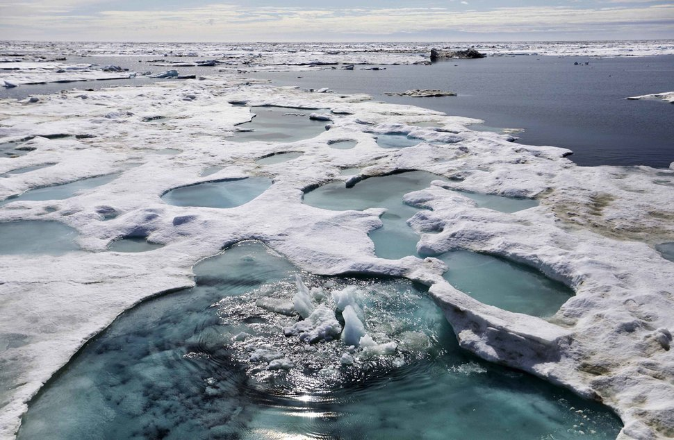 (AP file photo) Ice is broken up by the passing of the Finnish icebreaker MSV Nordica as it sails through the Chukchi Sea off the coast of Alaska while traversing the Arctic's Northwest Passage, Sunday, July 16, 2017. As global warming is melting sea ice and glaciers at an historic rate, scientists at the University of Utah are studying similarities between cloud formation and inversions over the Wasatch Front and those that occur in the Arctic.