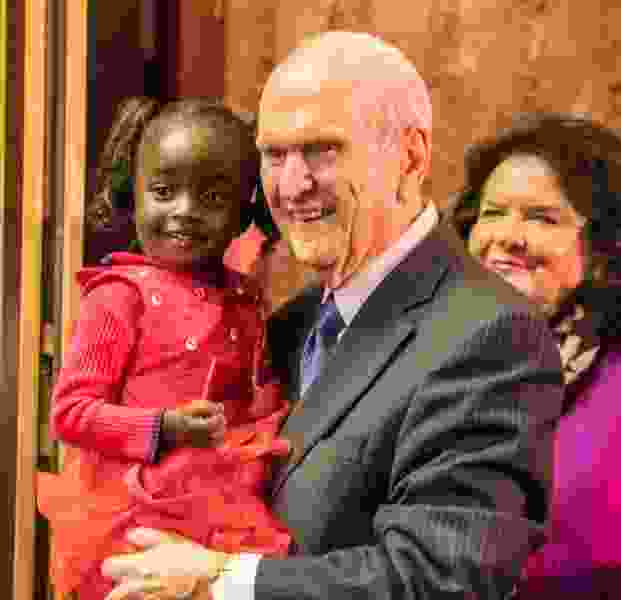 Mormon leader delights in songs of 'precious children' as he wraps up African tour