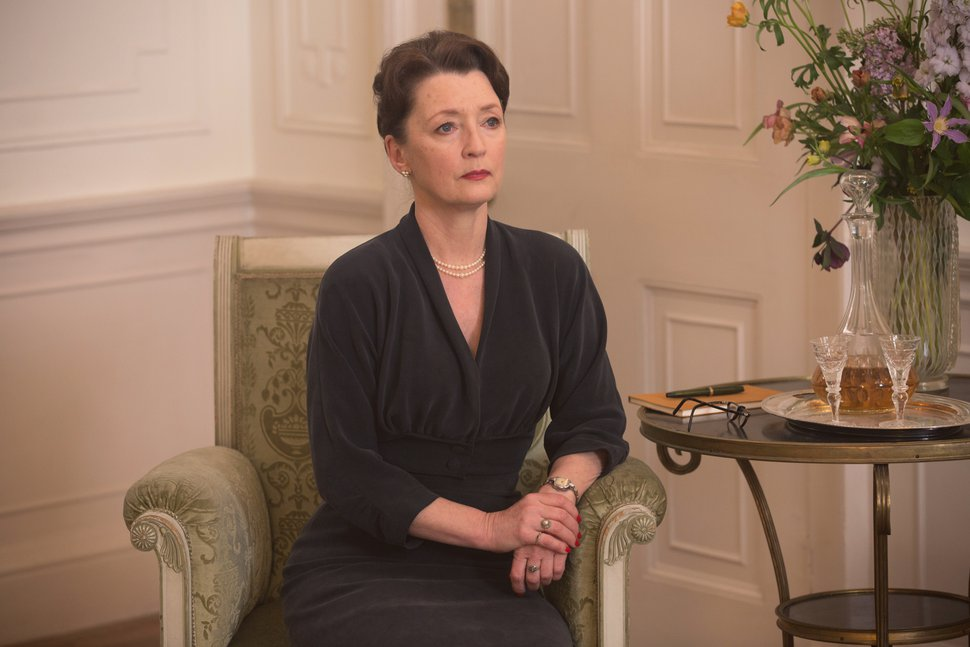 In this image released by Focus Features, Lesley Manville appears in a scene from
