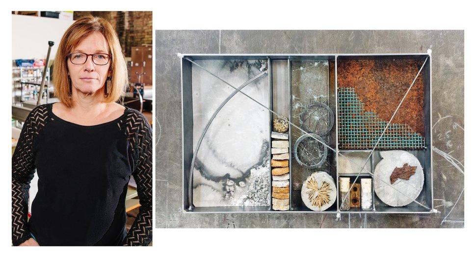 (Courtesy photos) Artist Stefanie Dykes and the collaborative work