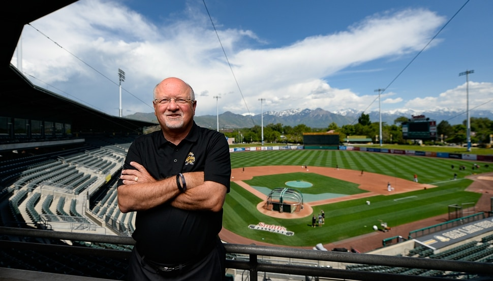 (Francisco Kjolseth | The Salt Lake Tribune) Salt Lake Bees GM and president Marc Amicone poses for a photo in a suite at SmithÕs Ballpark on Tuesday, June 4, 2019, as he recalls great memories. The Bees are celebrating the 25th anniversary of the Ballpark, which opened in April 1994. Amicone is in his 15th year as GM of the Bees.