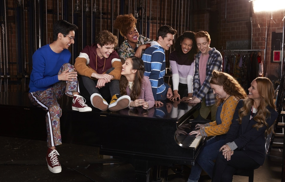 "(Photo courtesy Craig Sjodin/Disney+) ""High School Musical: The Musical: The Series"" stars Frankie A. Rodriguez as Carlos, Joshua Bassett as Ricky, Olivia Rodrigo as Nini, Dara Reneé as Kourtney, Matt Cornett as E.J., Sofia Wylie as Gina, Larry Saperstein as Big Red, Julia Lester as Ashlyn, and Kate Reindeers as Miss Jenn."