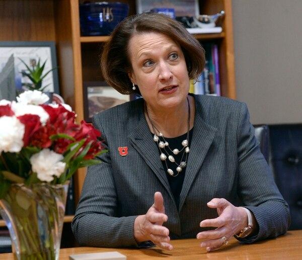 (Al Hartmann | The Salt Lake Tribune) Ruth Watkins at her U. campus office on Monday, January 22.
