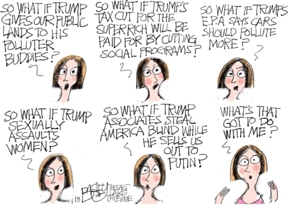 This Pat Bagley cartoon appears in The Salt Lake Tribune on Wednesday, April 4, 2018.