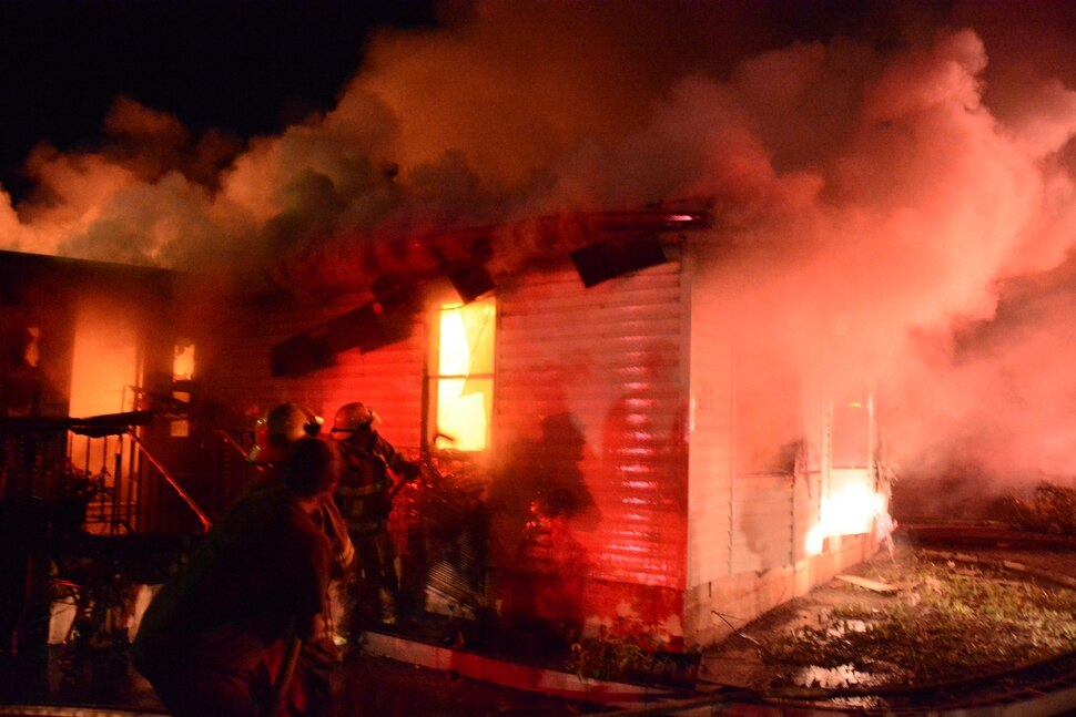 (Courtesy Emery County Sheriff's Office) Fire crews extinguished a blaze that killed one person on Oct. 2. Investigators believe rodents started the fire by gnawing through electrical wire insulation.