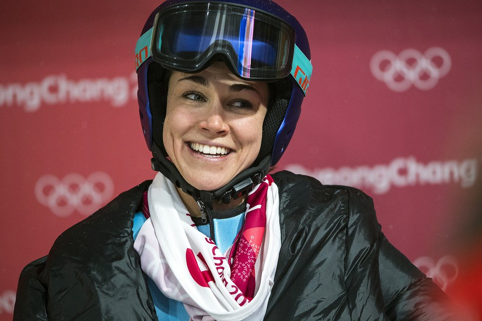 (Chris Detrick | Tribune file photo) USA's Sarah Hendrickson after competing in the Ladies' Normal Hill Individual at the Alpensia Ski Jumping during the Pyeongchang 2018 Winter Olympics in February 12, 2018. Hendrickson finished in 19th place with a total of 160.6.