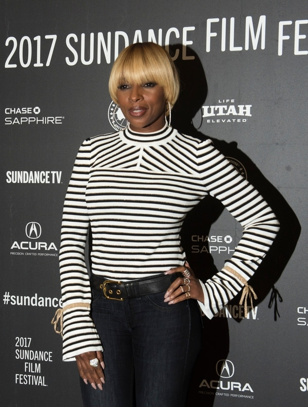 Rick Egan | The Salt Lake Tribune Mary J. Blige, at the Eccles Theatre for the premiere of ÒMudboundÓ at the 2017 Sundance Film Festival in Park City, Saturday, January 21, 2017.