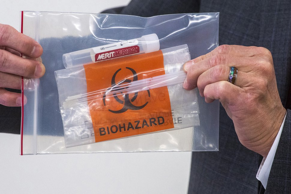 (Rick Egan | The Salt Lake Tribune) A Merit Medical Systems, Inc. facility in South Jordan is producing sample and collection kits for use in COVID-19 testing, Tuesday April 21, 2020.
