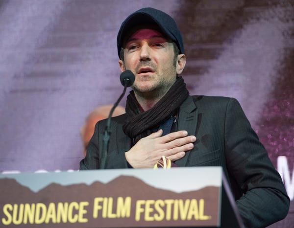 Rick Egan   The Salt Lake Tribune Bryan Fogel receives the U.S. Documentary Special Jury Award, The Orwell Award, for his film ÒIcarus,Ó at the 2017 Sundance Film FestivalÕs Awards Ceremony, Saturday, January 28, 2017.