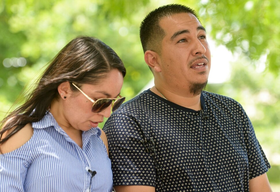 (Leah Hogsten | The Salt Lake Tribune) Freddy Palacios with his sister Elsa Karina Palacios were allowed to watch body camera video of their brother Bernardo Palacios-Carbajal being killed by police on May 23, 2020. The video was released on Friday, June 5, 2020.