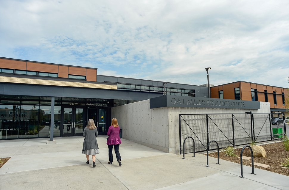 (Francisco Kjolseth | Tribune file photo) Shelter the Homeless and Catholic Community Services of Utah (CCS) holds a public open house at the Gail Miller Resource Center on Friday, Sept. 6, 2019, with self-guided tours for the public to see the brand new building and learn about the services that will be provided there for both men and women.