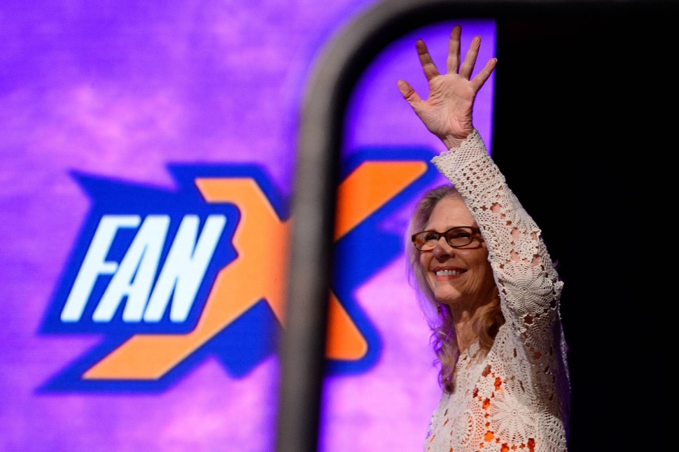 (Trent Nelson | The Salt Lake Tribune) Lindsay Wagner takes the stage. Wagner and Lee Majors, stars of the '70s classics The Bionic Woman and The Six Million Dollar Man made an appearance at FanX Salt Lake Comic Convention at the Salt Palace Convention Center in Salt Lake City on Friday Sept. 6, 2019.