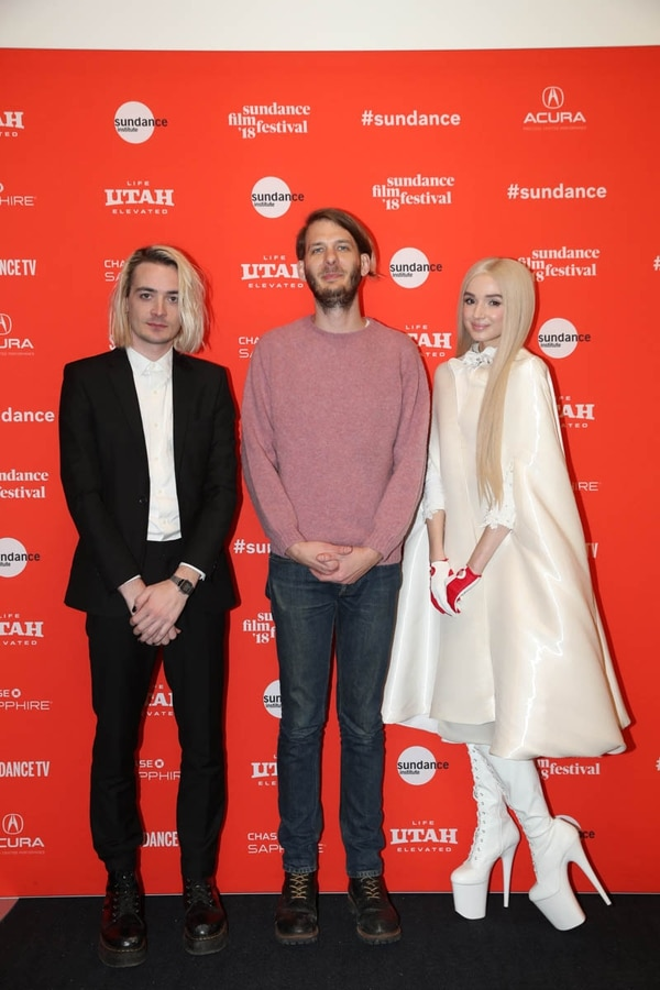(Courtesy Sundance Institute | photo by Ryan Kobane) Director Titanic Sinclair, Sundance Film Festival Senior Programmer Charlie Sextro and Poppy attend the World Premiere of