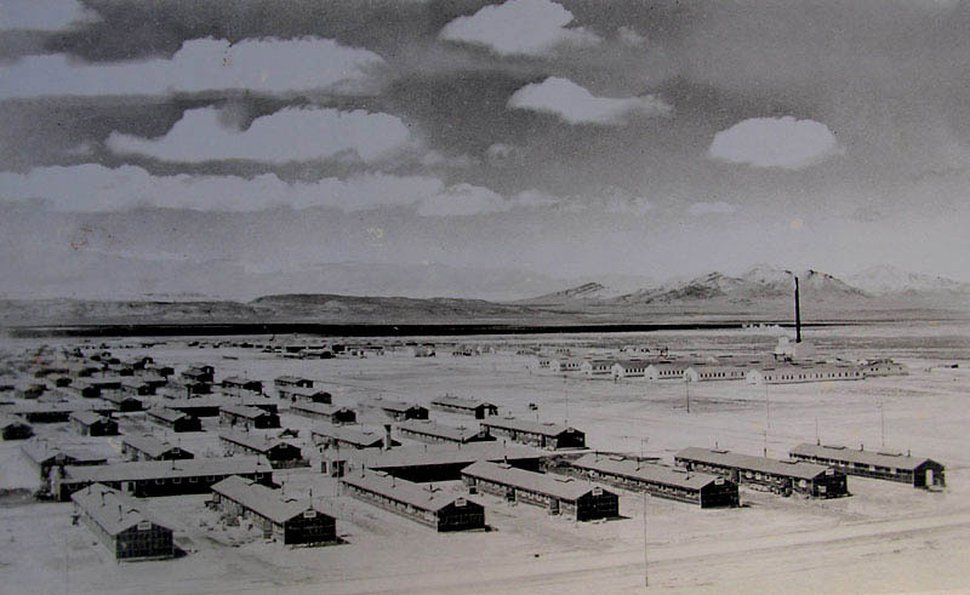 (Photo courtesy of The National Archives) Japanese internment camp of Topaz in Utah from World War II.