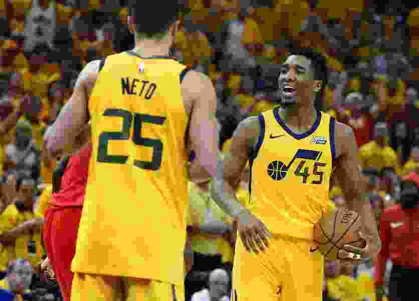 Jazz guard Donovan Mitchell in the spotlight as the NBA season begins
